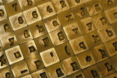 Monotype matrices for casting letterpress type